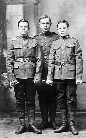 77th Battalion (Ottawa), CEF - Young men from Metcalfe who enlisted in the 77th Battalion, Canadian Expeditionary Force