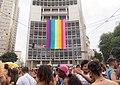 9 stripe LGBT flag revealed at Love Fest Festival, during carnival in Sao Paulo, Brasil, on Feb 12th 2018.jpg