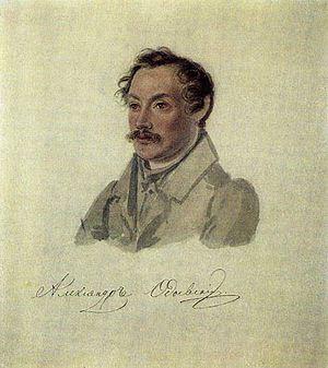 Alexander Odoevsky - Portrait by Nikolay Bestuzhev