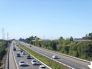 Transport in Portugal - In the 1990s many motorways were opened. Shown is the A28 motorway in the Grande Porto subregion.