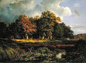 Sachsenwald - The Sachsenwald in the 19th century. Painting by Adolph Friedrich Vollmer (1852)