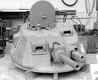 AMC 35 - The APX2-B turret from Zeebrugge, preserved in the Army Museum of Brussels