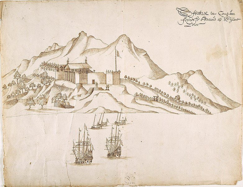 File:AMH-4675-NA View of the island of Solor and Fort Henricus.jpg