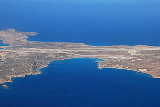 Karpathos Island National Airport - Image: AO Ksideview