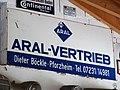 ARAL Vertrieb Werbeschild, Fahrzeugmuseum Marxzell.JPG