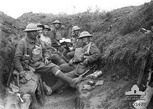 38th Battalion (Australia) - Soldiers from the 38th Battalion at Guillemont, 29 September 1918