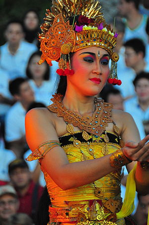 Women in Hinduism - A Hindu woman in a dance pose Bali Indonesia
