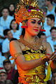 A Hindu woman in a dance pose Bali Indonesia.jpg