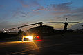 A U.S. Army UH-60 Black Hawk helicopter assigned to the Puerto Rico Army National Guard prepares to conduct night flight training at the aviation support facility in Isla Grande, Puerto Rico, Sept 140902-Z-KD550-799.jpg