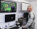 A U.S. Soldier with the 63rd Civil Support Team, Oklahoma Army National Guard monitors weather May 21, 2013, in the unit's command module in Moore, Okla 130521-Z-BB392-386.jpg