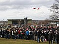 A crowd watches a stunt rider at Ingliston - geograph.org.uk - 1205094.jpg