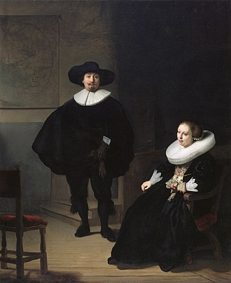 Isabella Stewart Gardner Museum theft - Image: A lady and gentleman in black, by Rembrandt