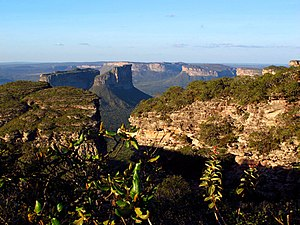 Dissected plateau - View of the dissected plateau at Chapada Diamantina, Brazil.
