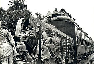 A refugee train, Punjab, 1947