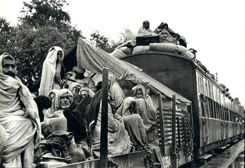A refugee train, Punjab, 1947