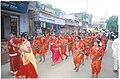 A troop of school children in Adivasi costumes leading the procession of the Public Information Campaign organised by the Ministry of Information & Broadcasting in Aurangabad on July 03, 2006.jpg