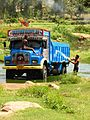 A truck being washed near Bangalore.jpg