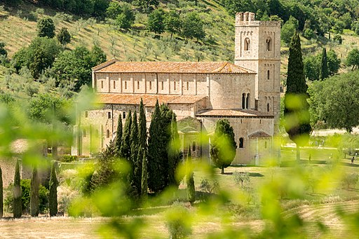 Abbey of Sant'Antimo near Montalcino, Tuscany, Italy