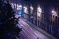 Academika Lebedeva Street at night.jpg
