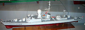 French destroyer Aconit (F65) - Model of the Aconit