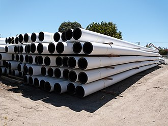 Plastic pipework - Polyethylene Piping in Australia, made from HDPE material.