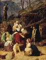 Adam Müller - Bøhmiske landfolk, som efter et ødelæggende uvejr er forsamlede ved St. Nepomuks billedstøtte for at anråbe ham om bistand - 1834.png