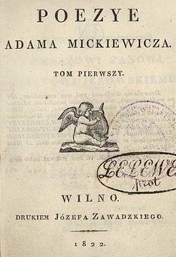 Poezye Adama Mickiewiczatom I Wikiźródła Wolna Biblioteka