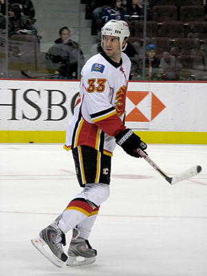 Adrian Aucoin - Aucoin with the Calgary Flames