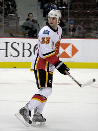 Adrian Aucoin - Aucoin with the Calgary Flames