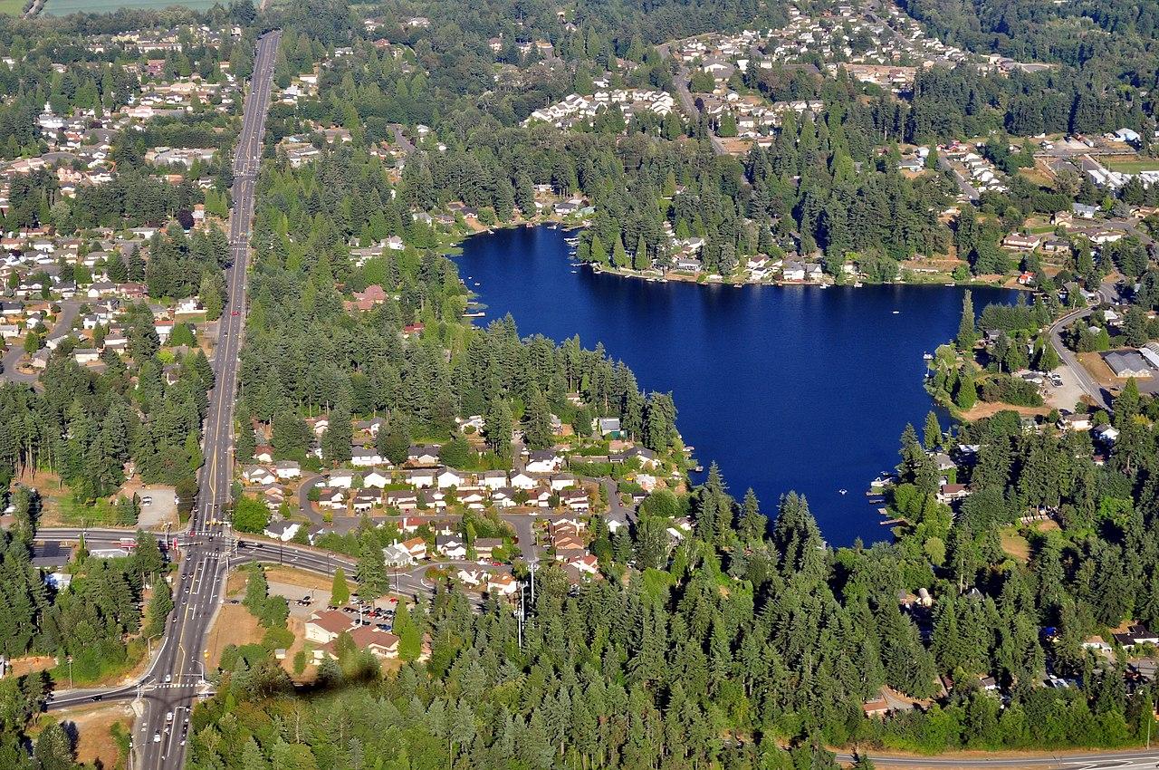File Aerial View Of Star Lake King County Washington