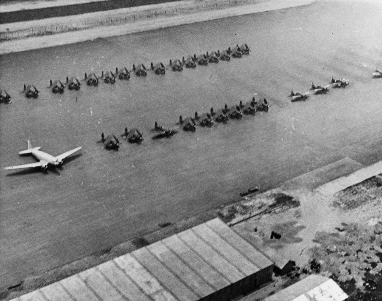 File Aerial View Of Tourane Airfield 01 Indochina C1954
