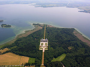 Herrenchiemsee - New Palace, aerial view