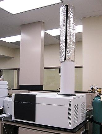 Quadrupole mass analyzer - Hybrid quadrupole time-of-flight mass spectrometer.