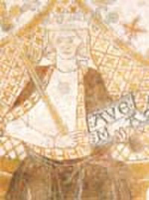 Agnes of Brandenburg - Fresco of Queen Agnes from the ceiling of St. Bendt's Church, Ringsted