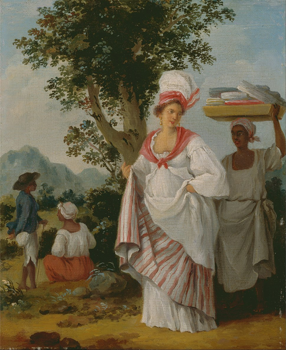 Agostino Brunias - West Indian Creole woman, with her Black Servant - Google Art Project