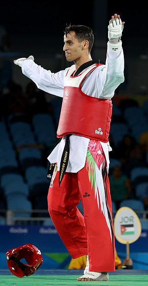 Jordan at the 2016 Summer Olympics - Taekwondo fighter Ahmad Abu-Ghaush won Jordan's first ever Olympic gold medal.