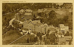 Catholic University of America - An aerial view of campus in 1920.