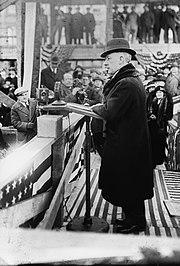 Al Smith giving a speech.