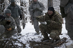 Alaska Army National Guard - Instructor conducts a cold-weather preparedness class, January 2015