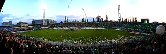 Újpest FC - Ferencváros-Újpest derby at the Albert Stadion on 1 April 2011