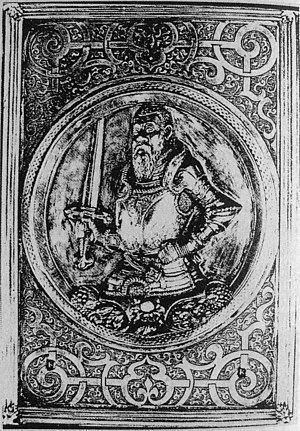 Königsberg State and University Library - Depiction of Duke Albert of Prussia on a silver cover
