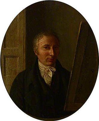 Alexander Carse - Self-portrait, 1811, oil on steel