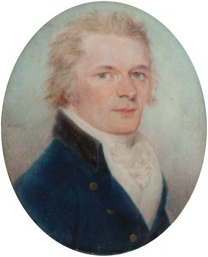 Alexander Hamilton miniature by Charles Shirreff c1790