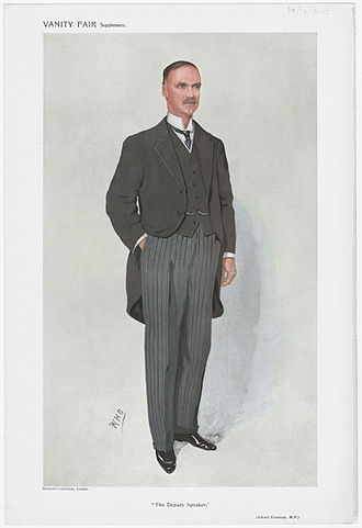 "Alfred Emmott, 1st Baron Emmott - ""The Deputy Speaker"" As depicted in Vanity Fair, 19 October 1910"