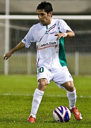 Ali Abbas (footballer) - Abbas playing for Marconi Stallions in 2009