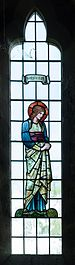 All Saints church, Preston Bagot - Simplicitas stained glass window 2016.jpg