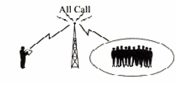 English: All calls with trunking