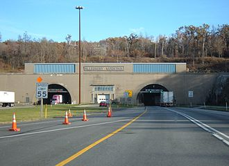 Allegheny Mountain Tunnel - The tunnel's western entrance