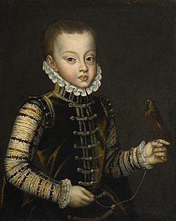 Alonso Sánchez Coello - Portrait of Infante Ferdinand of Spain - Walters 37551.jpg