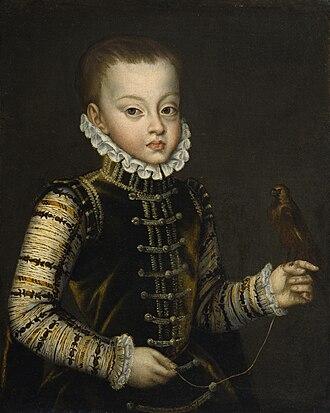 Ferdinand, Prince of Asturias - Image: Alonso Sánchez Coello Portrait of Infante Ferdinand of Spain Walters 37551